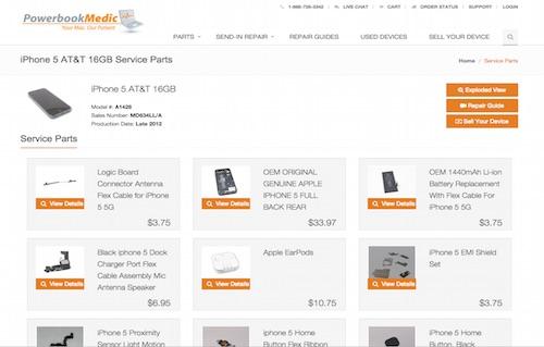 Mac Service Parts, iPhone Repair Parts, iPad Replacement Parts