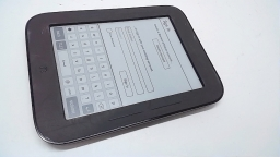 "Barnes & Noble Nook Simple Touch 6"" eReader, BNRV300, Gray, Spots on Display"