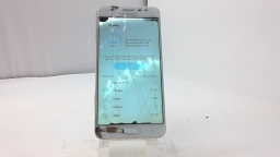 Samsung Galaxy J7 Prime SM-G610M, Unknown Carrier White/Rose, Cracked, BAD BOARD
