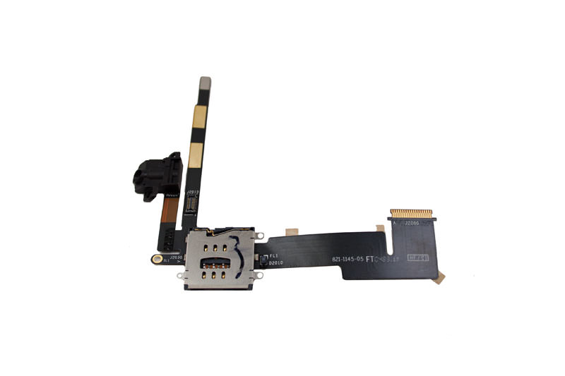 Sim Card Reader/Headphone Jack Flex Cable for iPad 2 16GB/32GB/64GB 3