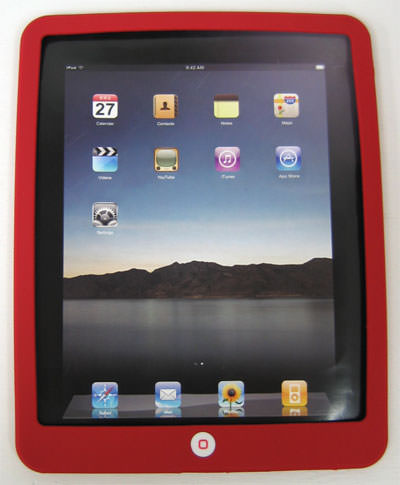 ipad silicon case red