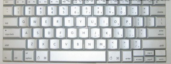 Powerbook Keyboard G4 Aluminum 076 0982 922 6106