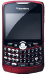 BlackBerry Curve 8310 Red Cracked, Non-Working, AS-IS (AT&T)
