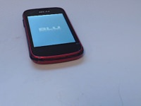 BLU Dash JR K - Red with Cracked Screen.