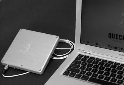 QuickerTek Macbook External Battery MFC12001 External Battery for all generations of Macbook, Macbook Pro, and Macbook AirPart # MFC12001QuickerTek's MacBook Pro External Battery powers and charges the internal battery while in use. You get 12 to 16 total hours of battery life - that's 6 to 10 extra hours of battery power.You know the QuickerTek External Battery is working because the battery charge percentage in the menu bar stays at 100% for hours, before the internal battery is used.While the stock Apple MacBook Pro recharges in four hours using the AC wall adapter, the QuickerTek External Battery Charger recharges in only three hours.It's styled to blend in perfectly with all of your other cool Apple equipment. The MacBook Pro External Battery Charger is lightweight, good looking and seriously powerful.This item includes the external battery as well as the modified charger to use the external battery.
