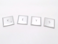 MacBook Pro Keys - Individual Key Keycap (Silver Color)