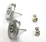 Aluminum Mac Power Button Earrings