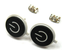 Black Macbook Power Button Earrings