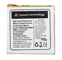 Extended Life Battery Upgrade Kit - iPod Nano 3rd Generation