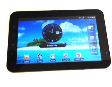 Samsung Galaxy Tab SCH-I800 2GB Black Wi-Fi 1GHz Verizon 7in Tablet, Cracked Digitizer