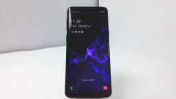 Samsung Galaxy S9 SM-G960U, AT&T, Black, Cracked Glass, PARTS ONLY