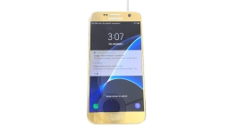 Samsung Galaxy S7 SM-G930V, Verizon, Gold, Cracked Glass