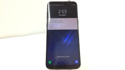Samsung Galaxy S8+ SM-G955U, Unknown Carrier, Black, Cracked Glass, PARTS ONLY