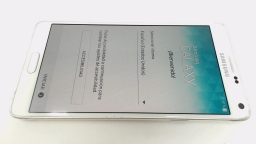 Samsung Galaxy Note 4 White SM-N910H LOCKED/UNKNOWN CARRIER/CRACK GLASS & CAM