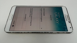 Samsung Galaxy Note 3 SM-N9005 White LOCKED TO UNKNOWN CARRIER/LCD BURN