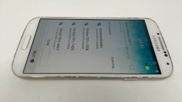 Samsung Galaxy S4 SGH-I337 White - AT&T CRACKED FRONT GLASS