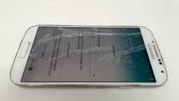 Samsung Galaxy S4 SPH-L720T White - Boost CRACKED GLASS