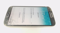 Samsung Galaxy S4 i9500 White/Black Carrier: Movistar CRACKED FRONT GLASS