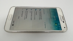 Samsung Galaxy S5 SM-G900A White AT&T CRACKED GLASS/LCD BURN