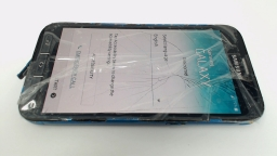 Samsung Galaxy S5 Sport SM-G860P Blue Sprint, PARTS ONLY CRACKED GLASS & R.CAM