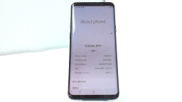Samsung Galaxy S9+ SM-G965U, AT&T, Azure, Cracked Glass, PARTS ONLY