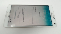 Samsung Galaxy Note 4 SM-910A White AT&T, PARTS ONLY LCD BURN
