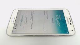Samsung Galaxy S5 SM-G900P White - Sprint LCD BURN/CRACKED FRONT GLASS