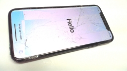 Apple iPhone X 64GB, MQCR2LL/A, Space Gray, Sprint, Cracked, PARTS ONLY