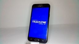Samsung Galaxy J3 Luna Pro SM-S327VL, Black, Tracfone, CRACKED GLASS