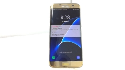 Samsung Galaxy S7 Edge SM-G935T, T-Mobile, Gold, Cracked Glass