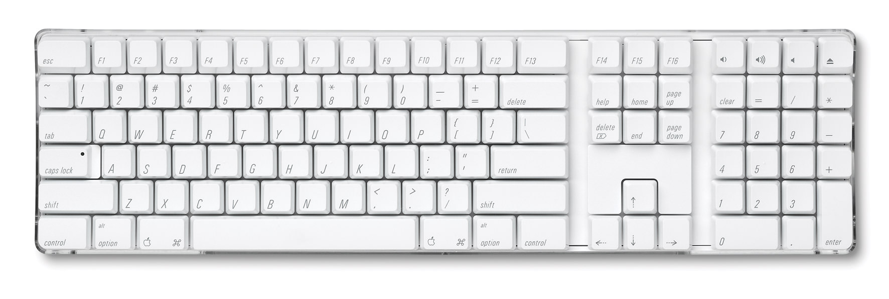 Apple White Wireless Keyboard w/ Number Pad