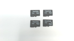 Lot of Four - 2GB Micro SD Memory Cards - SanDisk