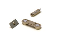 Gold Button Set For iPhone 5S Volume, Silent/Mute Switch Power on/off