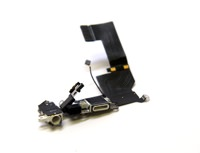 Charging Port Dock Connector Headphone Jack Mic Flex Cable for IPhone 5S White