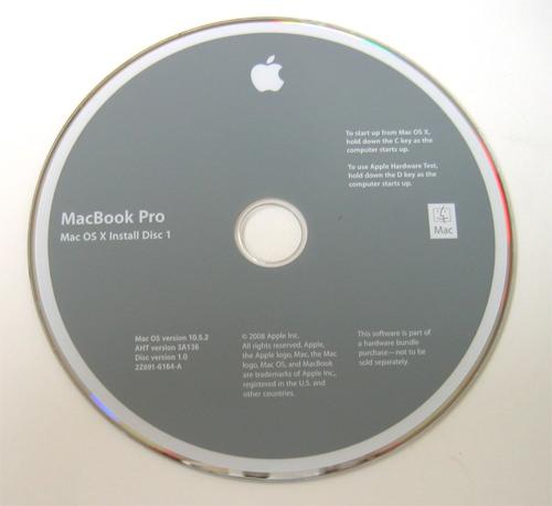 Macbook Pro Restore CD with Mac OS X v10 5 Leopard