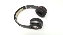 Beats Solo WIRED Headphones Matte Black NO INNER RUBBER HEADBAND or CABLE