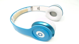 Beats Solo HD WIRED Headphones - Light Blue NO CORD/RUBBER INNER HEADBAND
