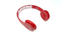 Beats Solo HD WIRED Headphones Matte Red - NO INNER RUBBER HEADBAND/AUDIO CORD