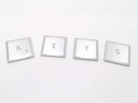 MacBook Pro Keys - Individual Key Keycap (Silver Color)